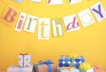 birthday party / cards, craft & drawings. deco, geschenkideen und -verpackungen!! geburtstagstisch, partyrezepte + party Zubehör, partyAccessoires, poster & printables.  ☆★happy birthday★☆ / by a.liZ.a