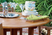 Patio Dining Sets / Patio dining sets for large and small spaces. Some of our patio furniture is small enough to fit on an apartment porch and portable enough to take to the beach. / by Improvements Catalog
