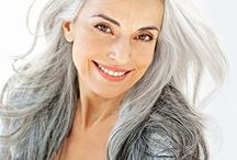 Grey and Silver Hair / My favorite hair color! / by Christina Ege