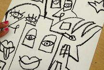 1st up 1&2&3 kids art ideas / by M. Poppy Art