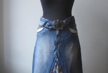 Sewing with jeans / up cycling jeans / by Tara Moore