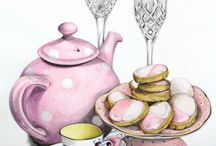 teapots and cups and plates and all fiesta ware / by Vada Wetzel