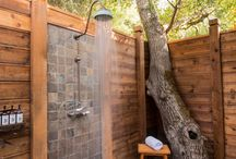 Back to Nature with Outdoor showers / Taking a shower can steam up the house during the hot summer months. Outdoor showers allow your house to stay cool, while also allowing you to enjoy the beautiful summer air!  / by KBIS 2015