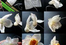 цветы из лент / by Mascia Grincenko