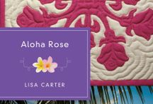 Aloha Rose by Lisa Carter / When Laney Carrigan's adoptive parents encourage her as an adult to seek out her birth family, her only clue is the Lokelani quilt in which she was found wrapped as an infant. Centering her search on the Big Island, she battles fears of rejection from a family that abandoned her once before while her faith struggles to embrace God's love.     Laney's painstaking journey to find restoration and a place to belong will lead her closer to her past and maybe even something more.  / by Quilts of Love Fiction