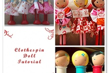 Clothespin dolls / by Erin Pemberton