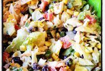 yummy salads / by Karen Bussa