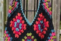 Peças em quadrados de croché / by Trabalhos da vovó Sônia
