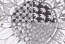 "Art ~ Zen Doodles /  ""Inspired by the Zentangle® method of pattern drawing."" / by Katrina Halperin"