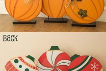 Fall Decoration / Décor for fall, Halloween and Thanksgiving / by Liz Veach