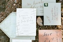 Paper & Print / wedding invitations, letterpress, print, and product | styling & inspiration  / by Eileen Marie of Buena Lane