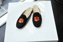Clemson Shoes / Clemson logo shoes for men and women. / by JP Crickets University and Collection Loafers jpcrickets