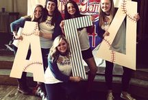 sorority stuff / Agd sorority recruitment rush paddles ideas crafts DIY themes big little  / by Michele Canale