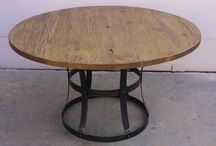 Reclaimed Circle Wood Table / by Reclaimed Wood, Inc.