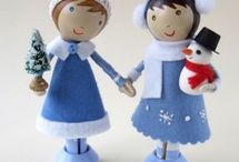 Little Wooden Dolls / by Audrey Overbaugh