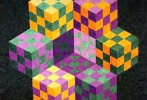Quilt Design: 60-Degree Tumbling Blocks / by Carmen Martinez