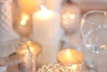 Candle Light / weddings, candles, mercury glass, crystal, votives, receptions, tabletop decor, lighting, receptions / by Fleurs De France