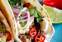 Taco Bar Ideas / I've done this SEVERAL times!  When having a large group over, this is easy as you can do so much prep before guests arrive therefore leaving you the time to socialize.  And, there are some TASTY idea starters here.  Enjoy:) - Shellie Hart / by Today's Warm 106.9