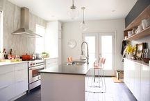 """Kitchens / Kitchens are the """"heart"""" of any home - and I don't cook. - Linda Hutchinson / by Linda Hutchinson"""