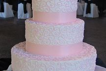 Pink Wedding Cake / by Ph.D.-serts & Cakes
