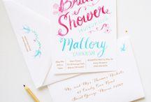 bridal shower invitations / Fresh and flirty custom bridal shower invitations. / by michelle mospens