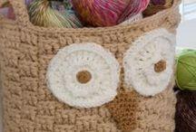 knit/crochet baskets / by Tina Niesen