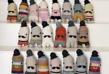 dolls , softies,  plushies, stuffed-toys  / by Felicia Mettadia