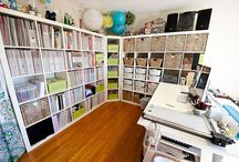 Craft/Scrapbook Rooms / Creative spaces that inspire me :) / by Teresa Carlucci {TotallyCre8tive}