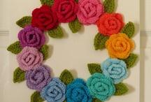 Crochet Garlands & Wreaths / A selection of Crochet garland & wreaths.  Visit my website for my own originally designed FREE crochet patterns www.patternsforcrochet.co.uk / by Patternsforcrochet (a free pattern website)