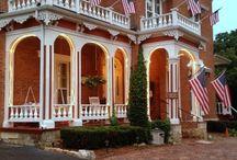 Bernadine's Stillman Inn / 1858 Romantic Bed and Breakfast and Wedding Chapel in beautiful Galena, IL / by Bernadine's Stillman Inn