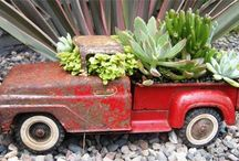 Outdoors: GARDENS with junk / by Donna - Funky Junk Interiors