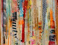 Collage, paint and mixed media / by Suzanne Washington