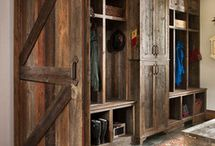 Cabin mudroom / by Holly Bouslough