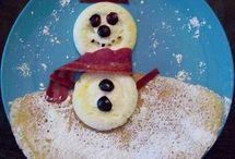 fun food-snowmen and cold / by Betty Farnsworth