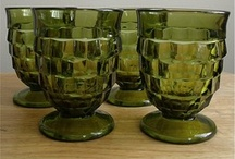 Green Glass Dishes / by Susan Bear