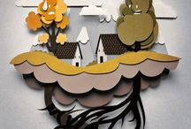 Cut Paper/3D Type / by Molly Hensley