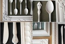 Silver N Gold, Vintage N Old, Argenterie / #diy, #decor, #silver, #silverware, #gold, #repurposed, #upcycled, #argenterie (french Silver) / by Karen Chapman