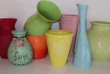 Vases / Vases, in a kid's room, really?  Vases are every where. Ranging in price, color, size, style and shape.  I have seen vases used in the loveliest of homes. Used to add color and style to one simple place on a table, shelf, or wall.  Look how lovely these vases are? / by skip to my room