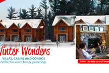 Wilderness Winter Wonderful / Winter in Wisconsin is beautiful and makes for great family get-togethers. At the Wilderness Resort in Wisconsin Dells, you can choose from many lodging options for your group or budget, featuring cabins that can sleep up to 20 people. / by Wilderness Wisconsin Dells