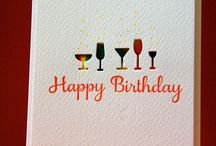 Cards - Candles - Presents - Glasses etc / Cards with a celebratory theme, candles, presents, wine glasses etc. / by TAD