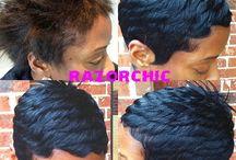 short hair styles / by Anicia Cross-Robinson