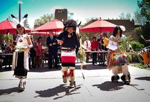 """Tesuque Pueblo Dancers / We were honored to have children from the Tesuque Pueblo dance at La Posada's opening event, as we became a Luxury Collection® Resort & Spa. The children performed a buffalo dance. Travis Vigil, a tribal council member, gave a blessing and noted: """"The American buffalo has great meaning for Native Americans as it represents their spirit. By performing, Tesuque Pueblo descendants preserve our historical and spiritual relationship with not only the buffalo but all animals for future generations."""" / by La Posada de Santa Fe Resort & Spa"""