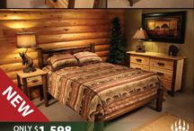 Log Bedroom Furniture / Rocky Top offers numerous log bedroom sets and log bedroom furniture at discounted rates. Constructed from northern white cedar logs, each set is great for adding a rustic touch to any cabin or lodge bedroom. They feature one log bed, one log nightstand, and one log dresser.  / by Log Heads