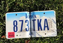 kunst - license plate art / (collected from State & Country vehicles) / by Dot Van Deest