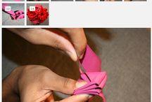 Ribbon flowers / by Carmen Rodriguez Uria