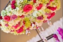 Flower Chandeliers / by Weddings In Iowa