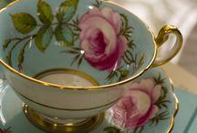 Tea Time & Fine China / tea cups etc / by Nancilee Jeffreys Iozzia