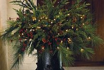 Front Porch Holiday Decor & Wreaths / by Becky Wheat Hassel
