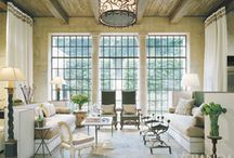 Architecturally Inspired Living Room / by Gayle Ahrens Design