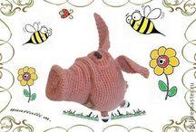 Pig Crochet pattern projects LittleOwlsHut amigurumi / by LittleOwlsHut